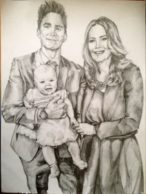 Ryan Family Portrait Pencil on 170gsm paper 12*16