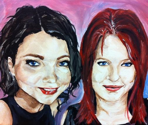 (Semi) Self- Portrait with Amy El