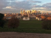 View of the Queens House & The National Maritime Museum from the Royal Observatory